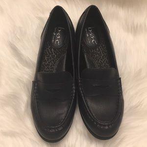 Navy Born loafers, NWOT. Size 8.